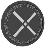 3D pundi x black coin model