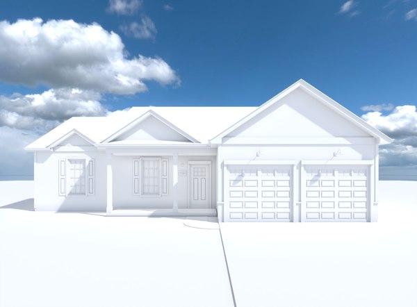 simple house cardinal 3D
