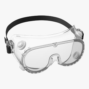 lab safety goggles 3D