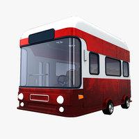 3D cartoon bus