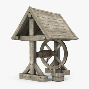 wooden water model