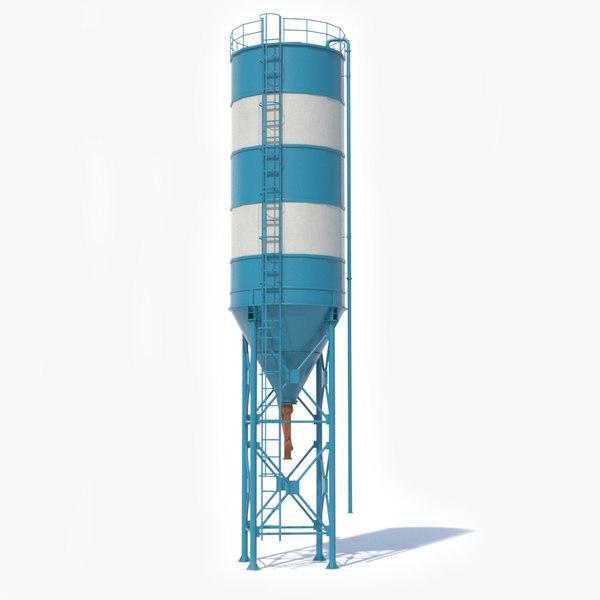 3D cement silo contains model
