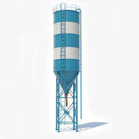 3D cement silo contains model