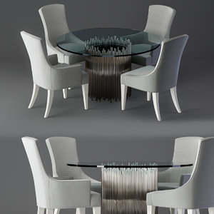 3D calista dining table model