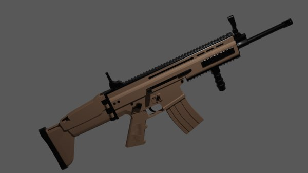 3D fn scar model