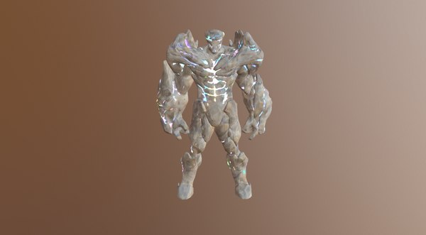 3D powerful elemental golem
