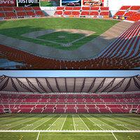 stadium baseball 3D model