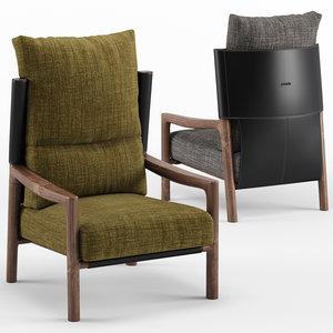 vera bergere armchair - 3D model