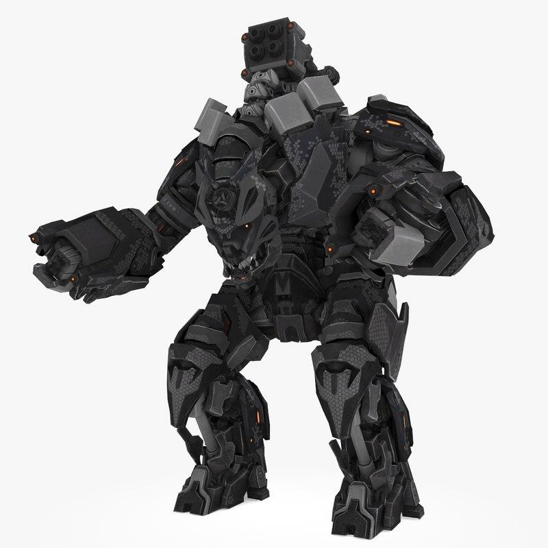 3D mech robot type
