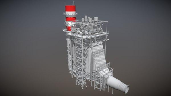 architecture power plant 3D
