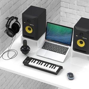 3D music production recording 1