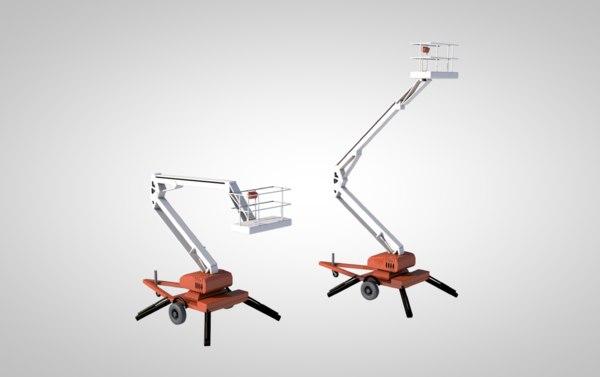 lift cherry picker construction 3D model