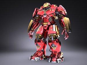 3D hulkbuster marvel iron