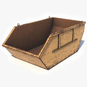 trash container skip 3D model
