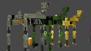 3D apocalypse assistant robotic dog