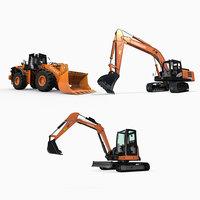 3D model hitachi heavy machines