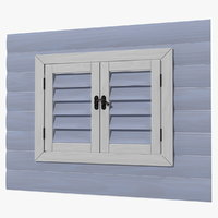 wooden window frame 3D model