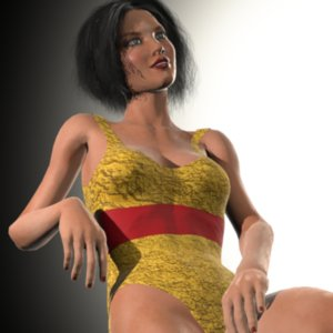 3D celine lady human female model