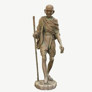 3D sculpture gandhi wagh sculptors model