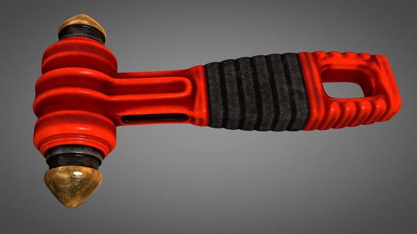 3D emergency glass breaker hammer model