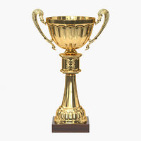 3D realistic trophy cup