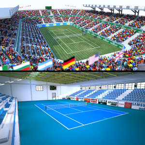 tennis stadium arena 3D model