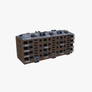 3D russian low-poly building
