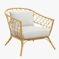 rattan chair stockholm 2017 3D model