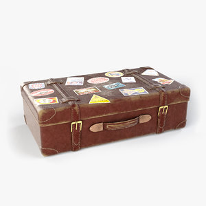 old suitcase 3D