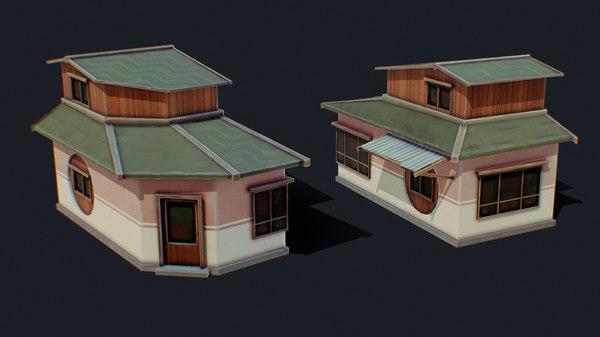 house color d green model
