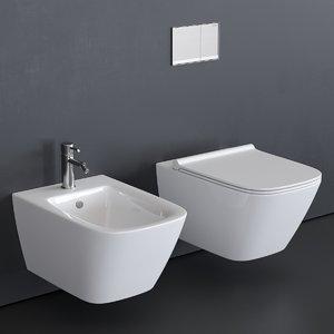 toilet green bidet 3D