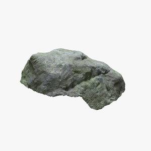 3D mossy sandstone rock