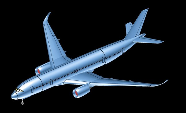 china-russia aircraft solid assembly 3D model