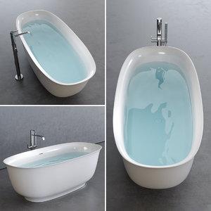 3D wave bathtub
