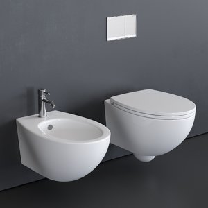 3D model velis wall-hung toilet bidet