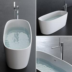 3D model loop bathtub