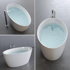 3D lake bathtub