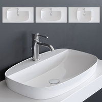 3D green lux washbasin