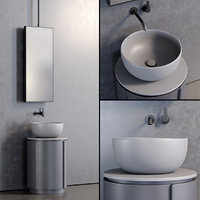 3D floor-standing tiberino washbasin model