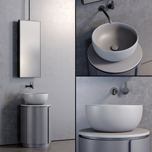 3D floor-standing tiberino washbasin model