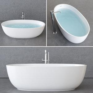 bathtub freestanding 3D model