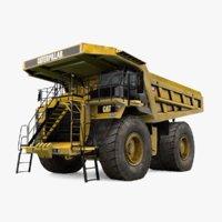 caterpillar 785d mining dump truck 3D