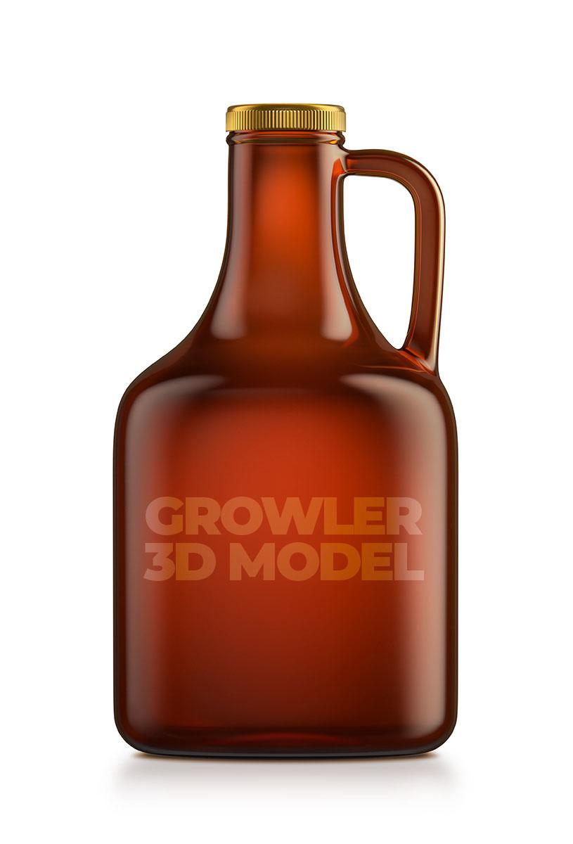 3D model growler beer