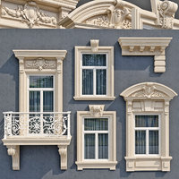 Windows in the style of modern classics 6 3D model