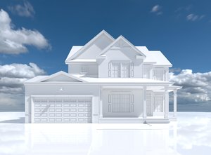 3D model simple house amberly 2
