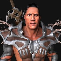 dwayne johnson warrior animations 3D model