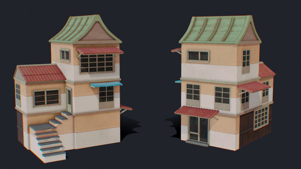 3D house color c green