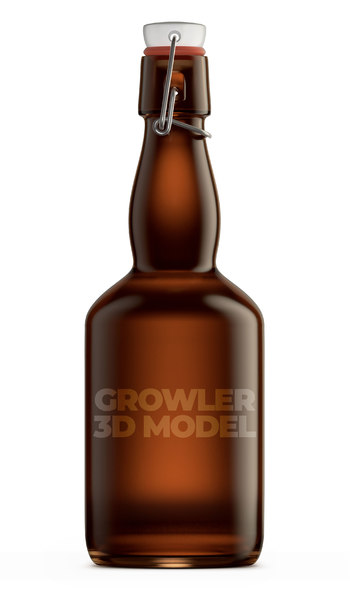 3D growler beer model