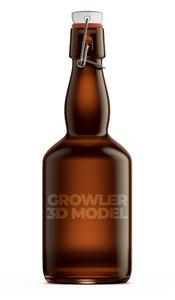 3D growler beer model