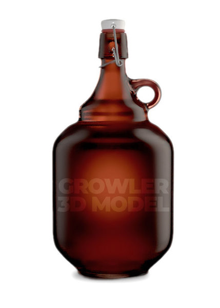 growler beer 3D